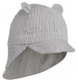 Liewood Liewood Gorm sun hat stripe blue wave/creme de la creme