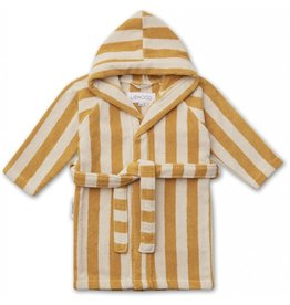 Liewood Liewood Reggie bathrobe stripe yellow mellow/sandy
