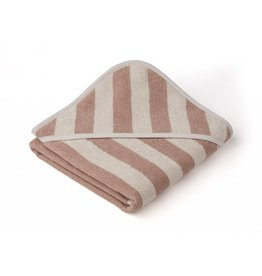 Liewood Liewood Alba hooded baby towel 70x70cm stripe rose/sandy