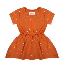 Little Indians Little Indians dress dots bombay brown