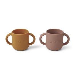 Liewood Liewood Gene silicone cup 2-pack cat dark rose