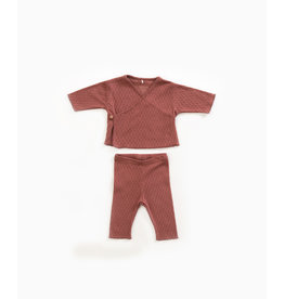 Play Up Play Up cardigan + trousers set old tile