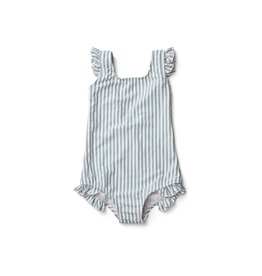 Liewood Liewood Tanna swimsuit stripe sea blue/white