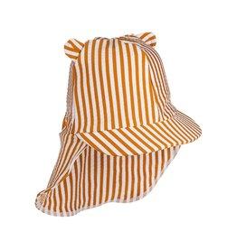 Liewood Liewood Senia sun hat stripe mustard/white