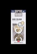 BIBS BIBS glow in the dark fopspeen T1 0-6 maanden vanilla/dark oak