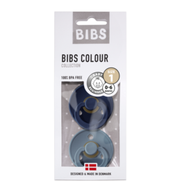 BIBS BIBS fopspeen T1 0-6 maanden deep space/petrol