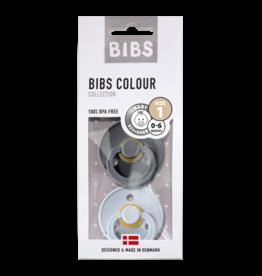 BIBS BIBS fopspeen T1 0-6 maanden iron/baby blue