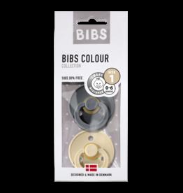 BIBS BIBS fopspeen T1 0-6 maanden iron/beige