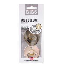 BIBS BIBS fopspeen T1 0-6 maanden dark oak/blush
