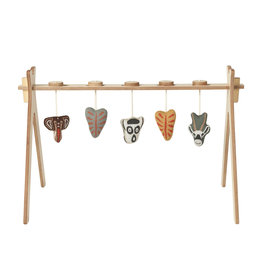 Quax tipi activity arch + 5 knitted ethnic toy