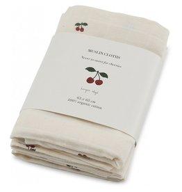 Konges Slojd Konges Slojd 3-pack muslin cloths cherry blush