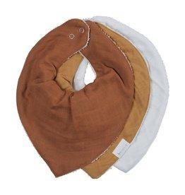 Fabelab Fabelab bandana bib 3-pack wood