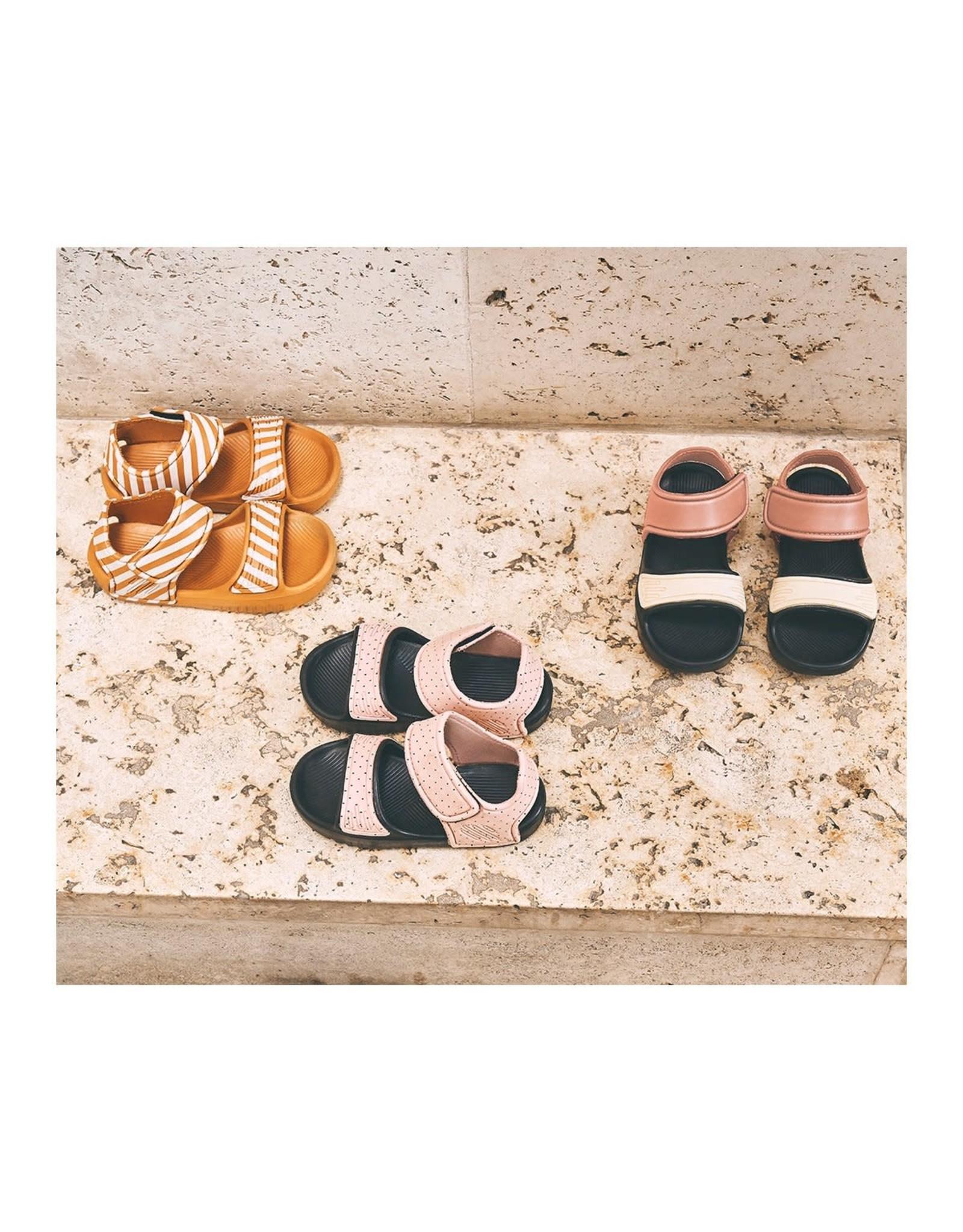 Liewood Liewood Blumer sandals stripe mustard/creme de la creme