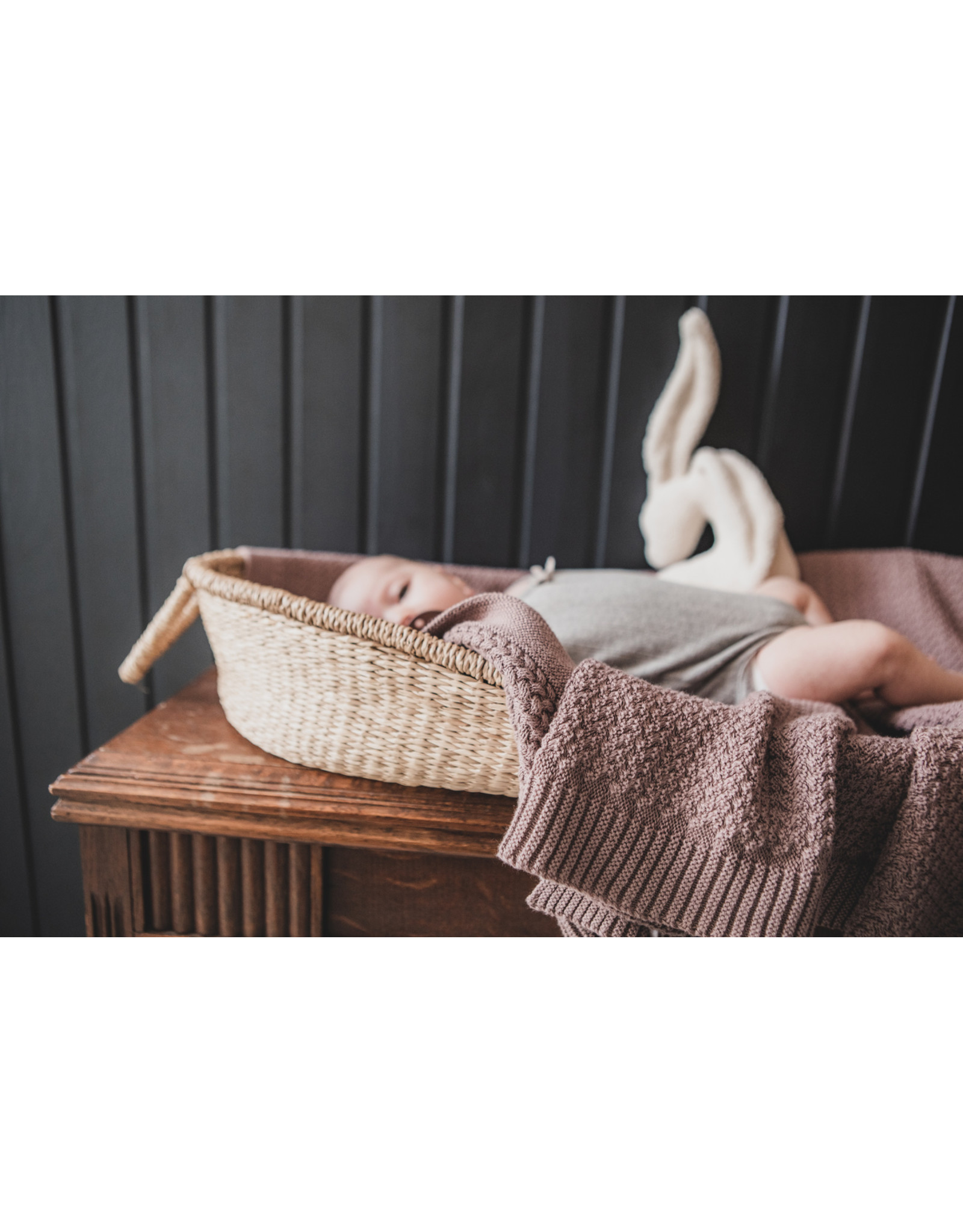 Mies & Co Mies & Co deken soft knitted Rosewood