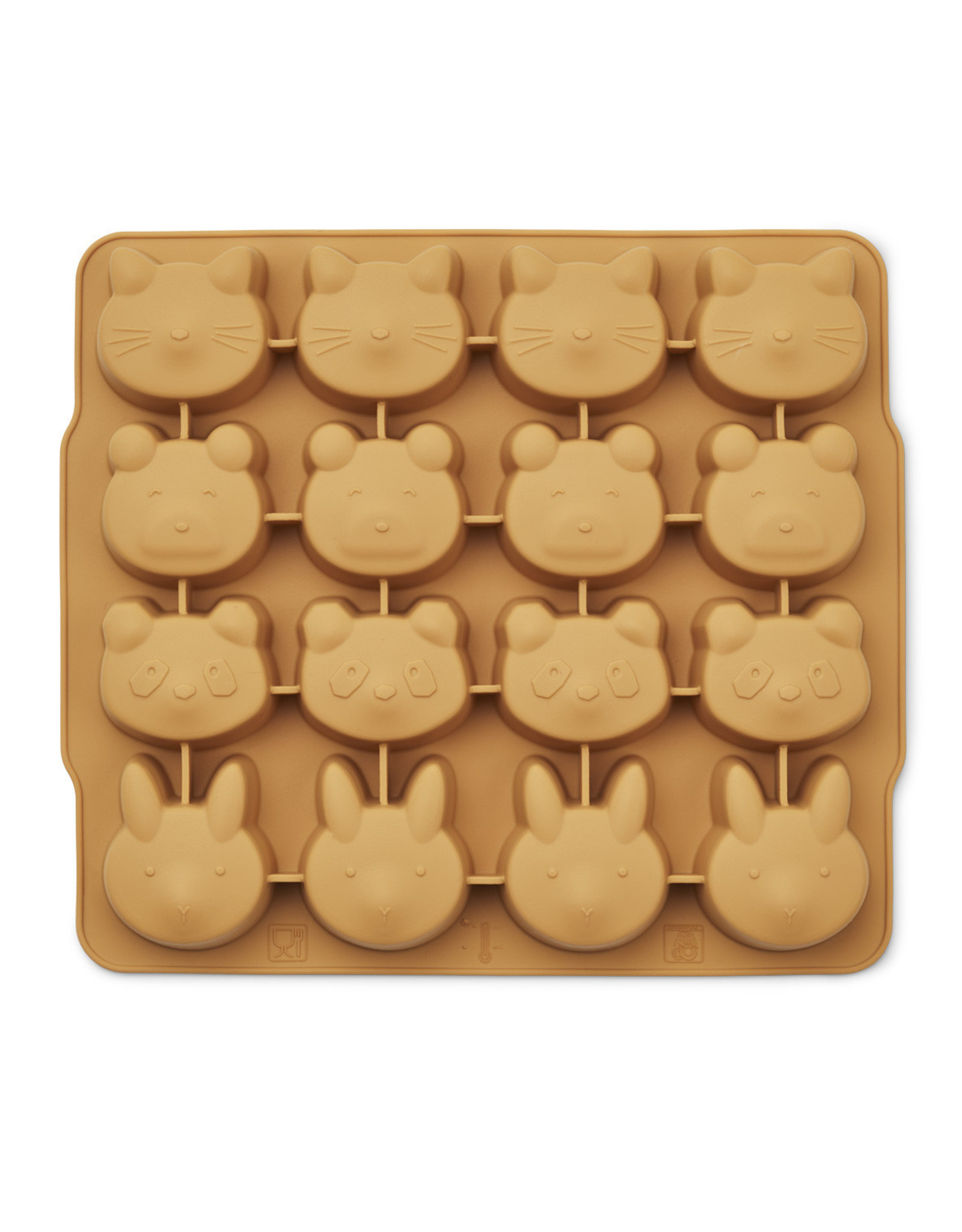 Liewood Liewood Sonny ice cub tray 2-pack yellow mellow/dark rose mix