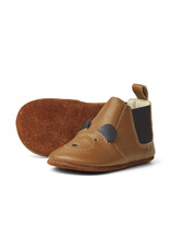 Liewood Liewood Edith leather slippers mr bear mustard