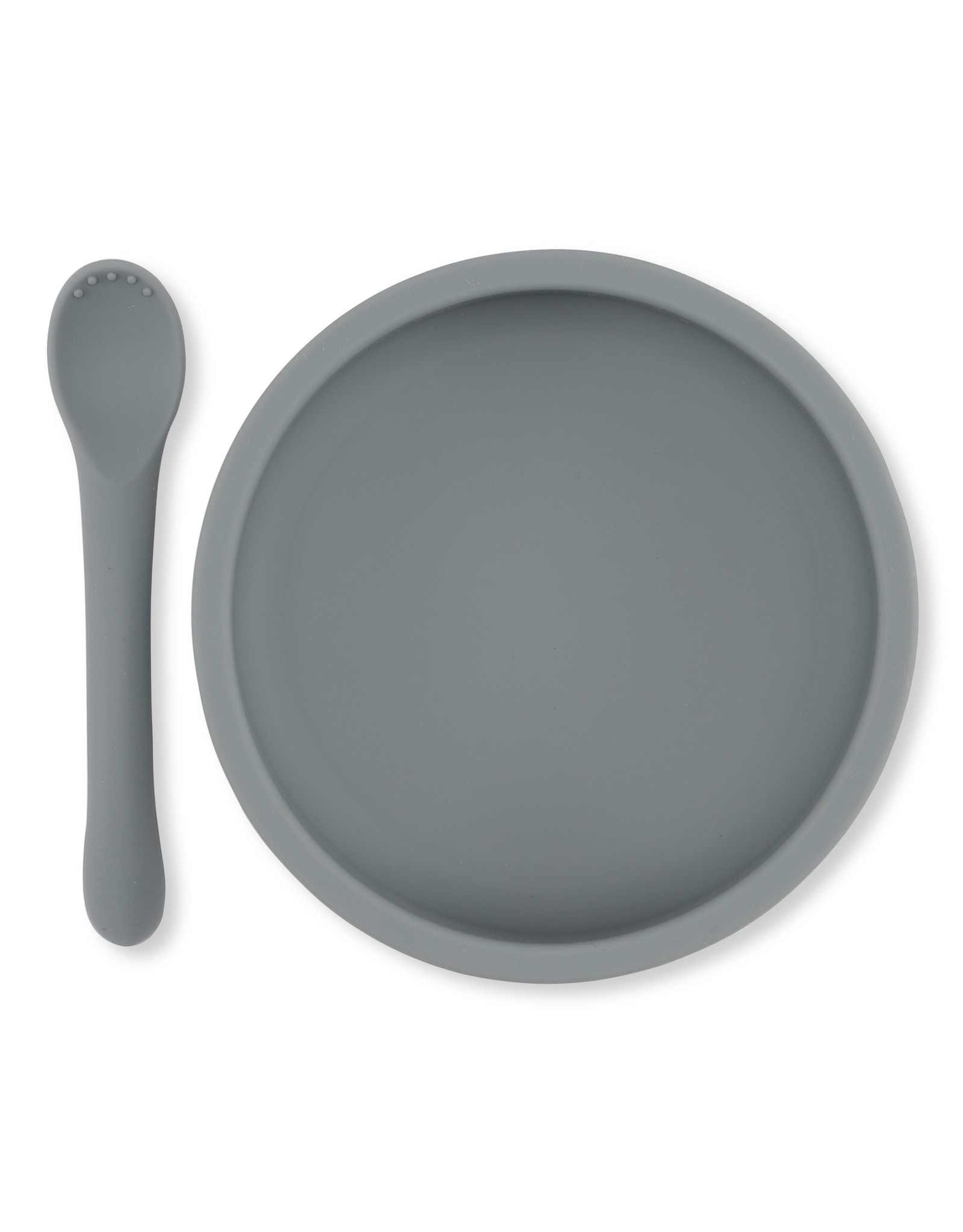 Konges Slojd Konges Slojd bowl & spoon silicone set light blue