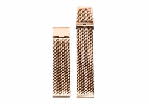 Morris Ivy Rose gold mesh strap