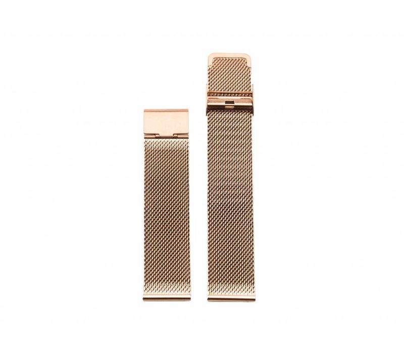 Rose gold mesh strap