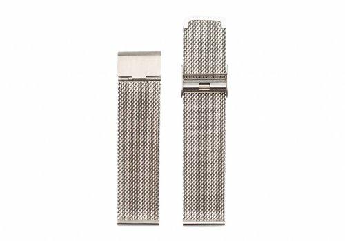 Morris Ivy Silver mesh strap