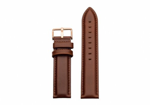 Morris Ivy Brown leather - rose gold buckle