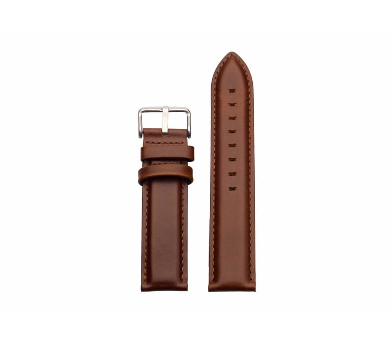 Brown leather - silver buckle