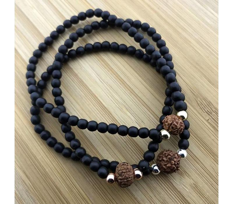 Armband zwart Rudraksha