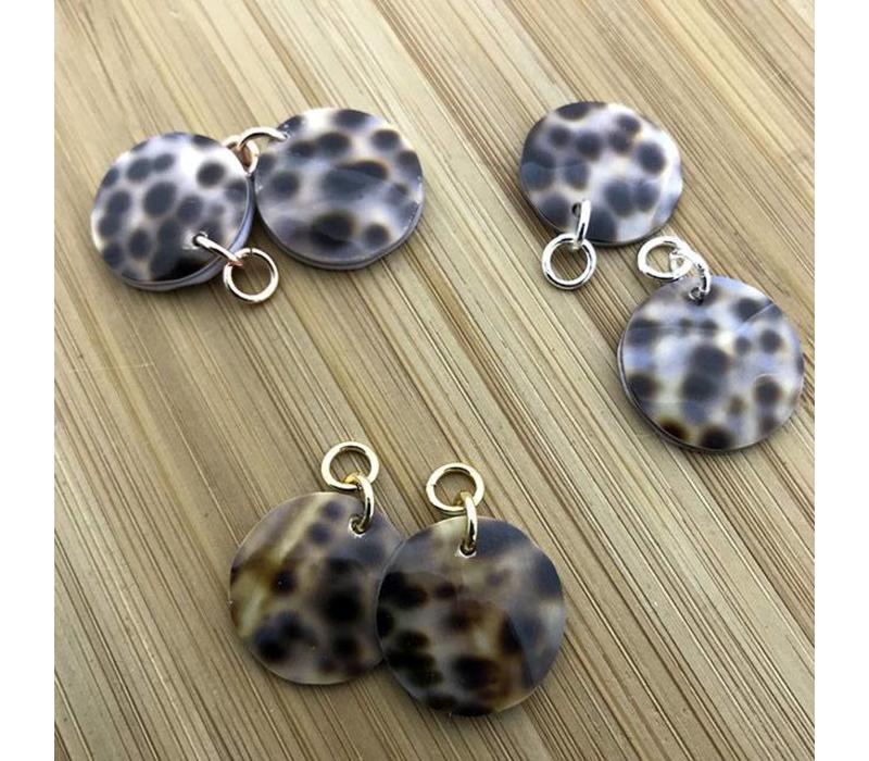 Oorbel match luipaard schelp