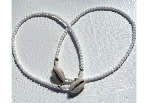 Enkelband kauri wit