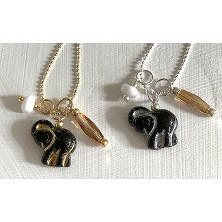 AziBi-iBizA Ketting olifant zwart