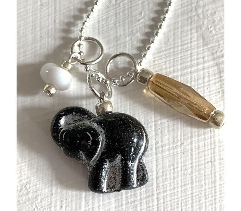 Ketting olifant zwart