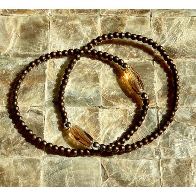 AziBi-iBizA Armband facet bruin