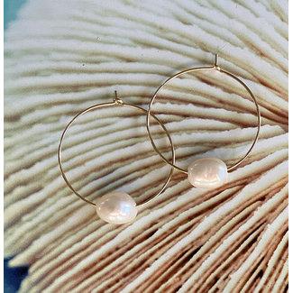 Stylisch oorringen parel