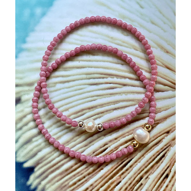 AziBi-iBizA Armband parel roze