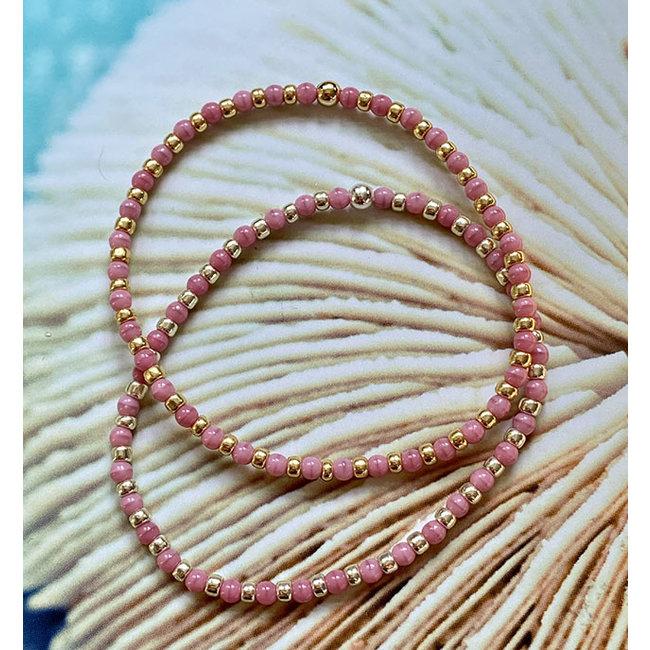 AziBi-iBizA Armband om en om roze