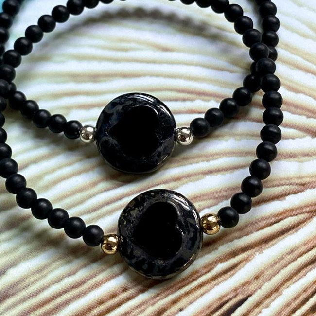 AziBi-iBizA #DOESLIEF armband  hart zwart