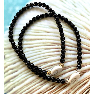 AziBi-iBizA Armband Shiva eye zwart