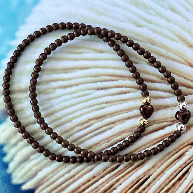 AziBi-iBizA armband hartje bruin