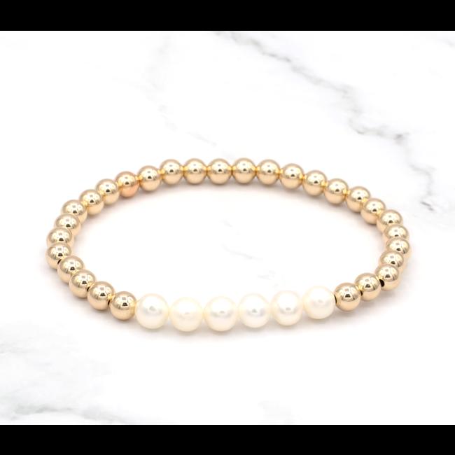 Gouden armband parels