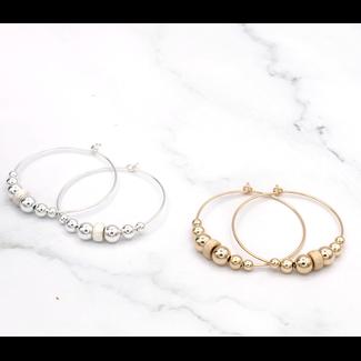 Oorringen goud/ zilver stardust