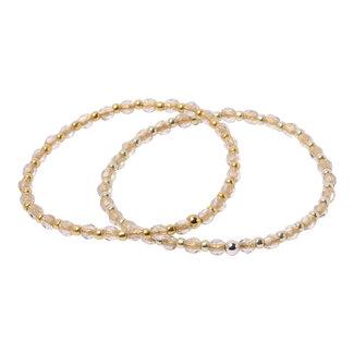 Goudlijn armband om en om