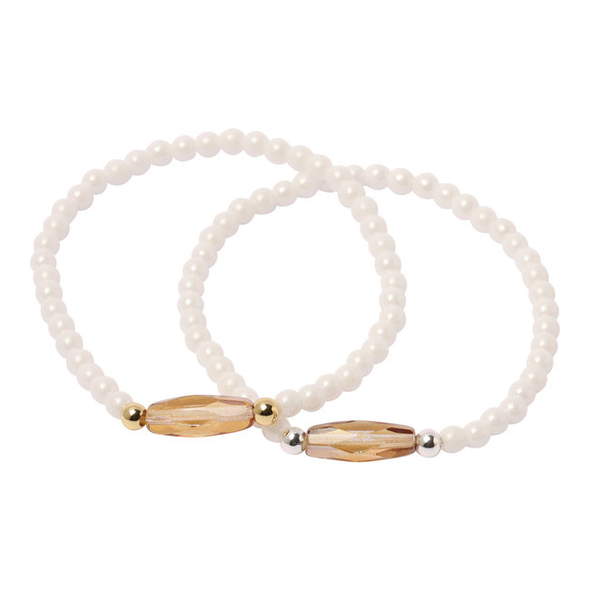 Witte armband facet