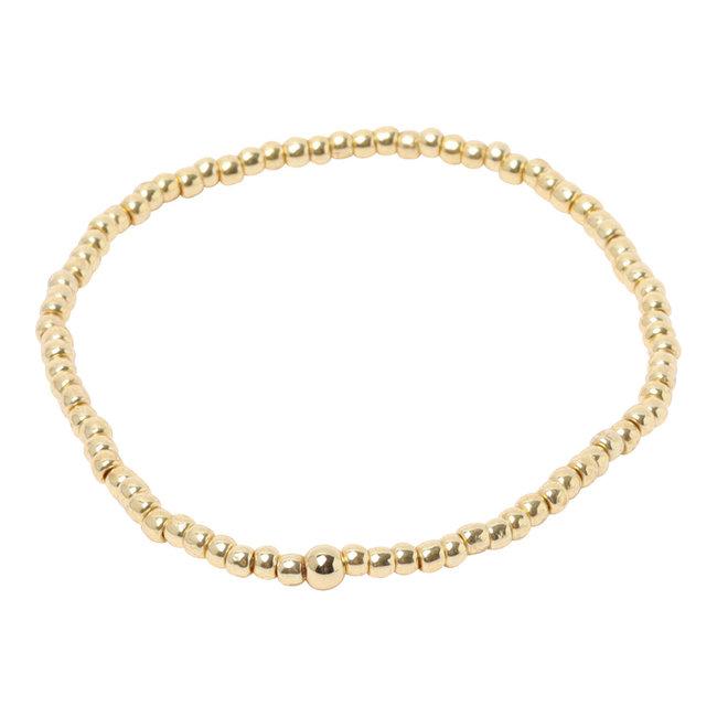 Basis armband goud of zilver