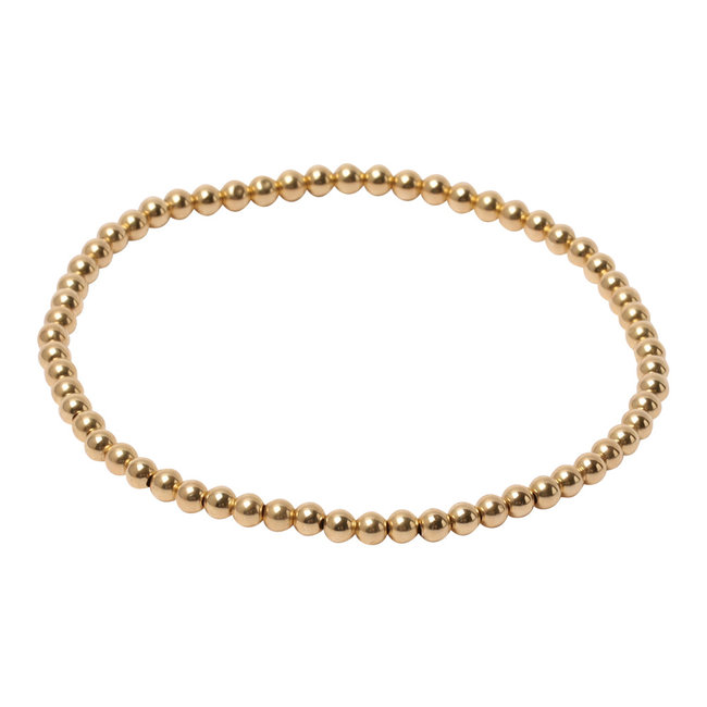 Gouden armband basis  3,4,5,6,7 of 8 mm.