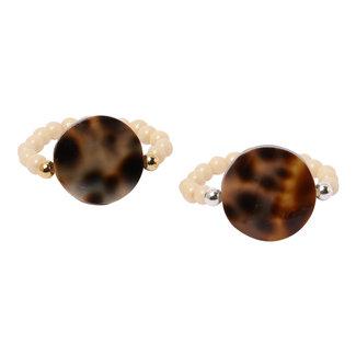 Crème ring luipaard schelp