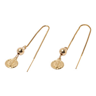 Gouden oorhangers Lady of Guadalupe