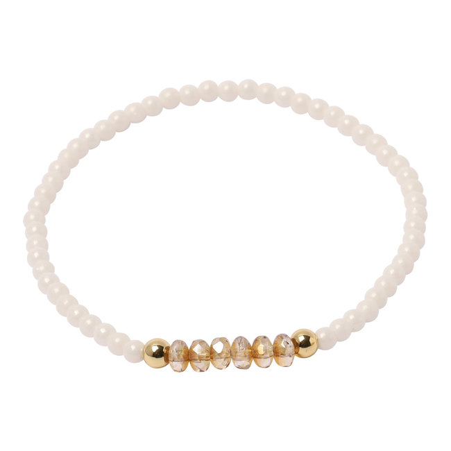 Witte armband rondell