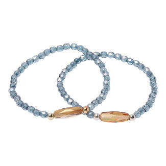 Kristal blauwe armband facet