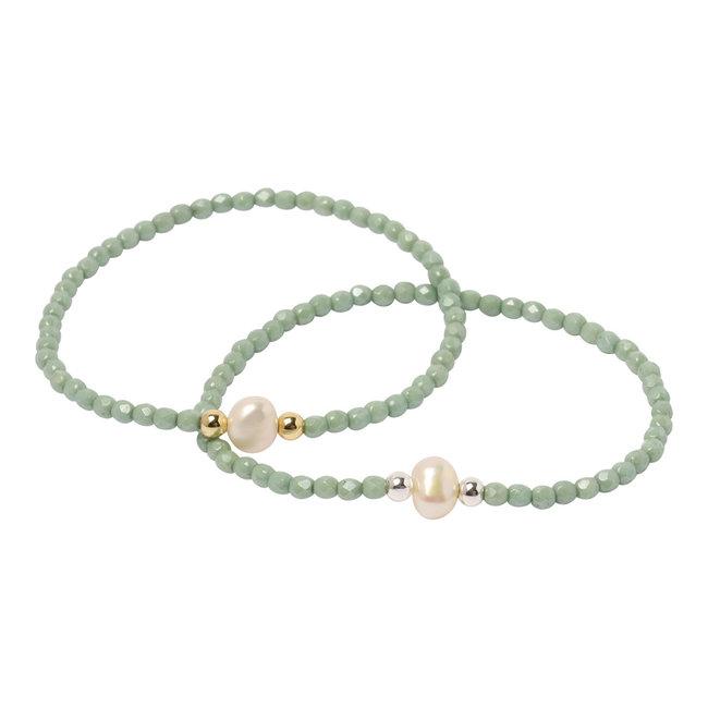 Mint groene armband parel