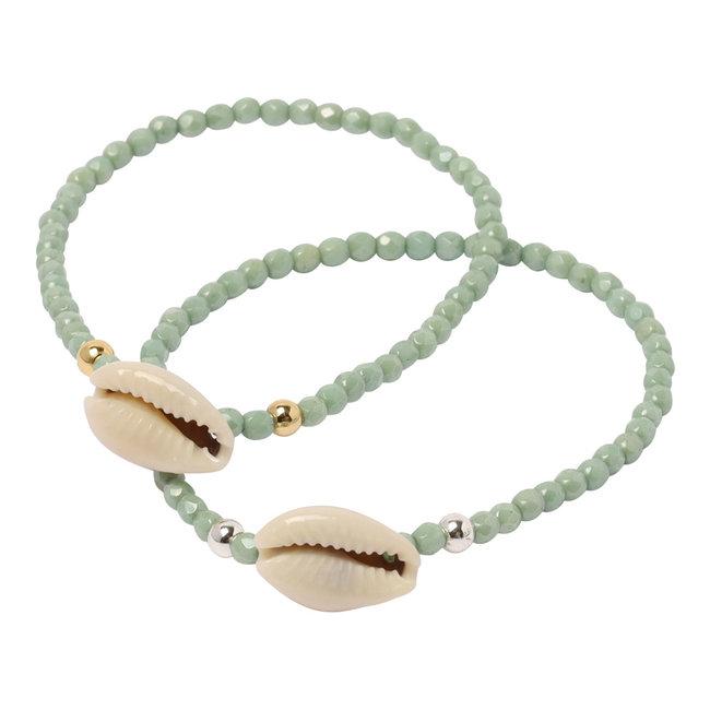 Mint groene armband kauri
